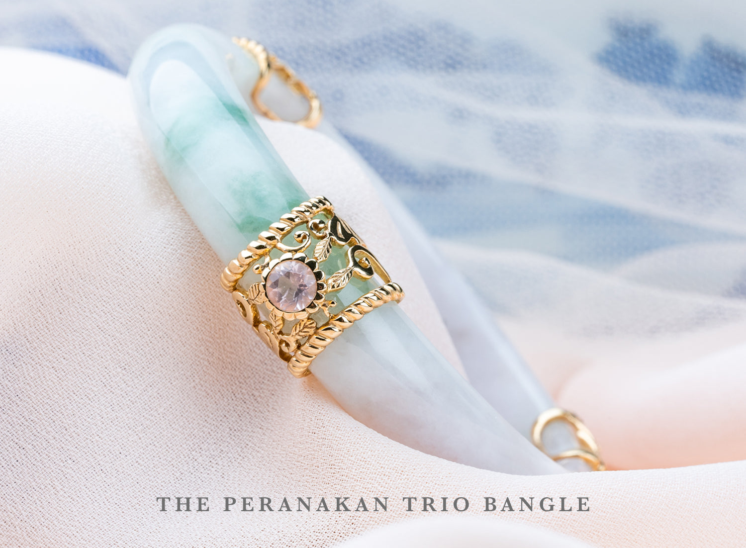 Peranakan Trio Jade Bangle