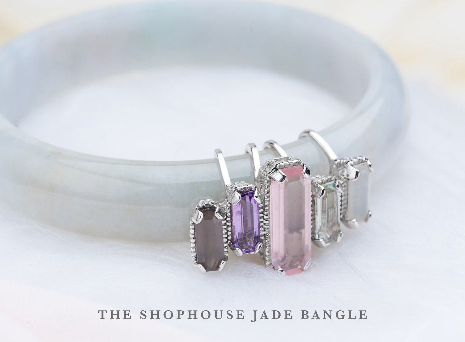 Shophouse Jade Bangle