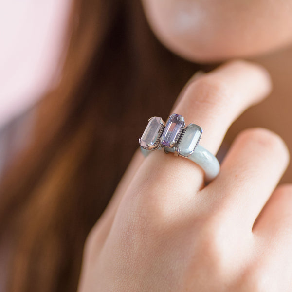 Shophouse Jade Trinity Ring