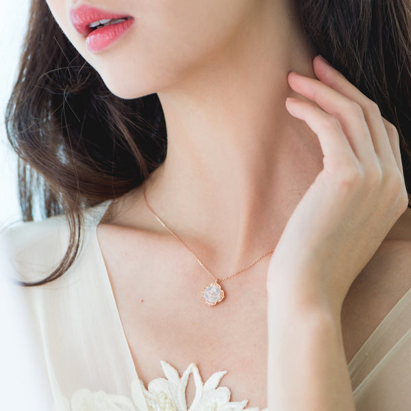 Warisan Kebaya Jade Donut Necklace (Exclusively in 18KT)