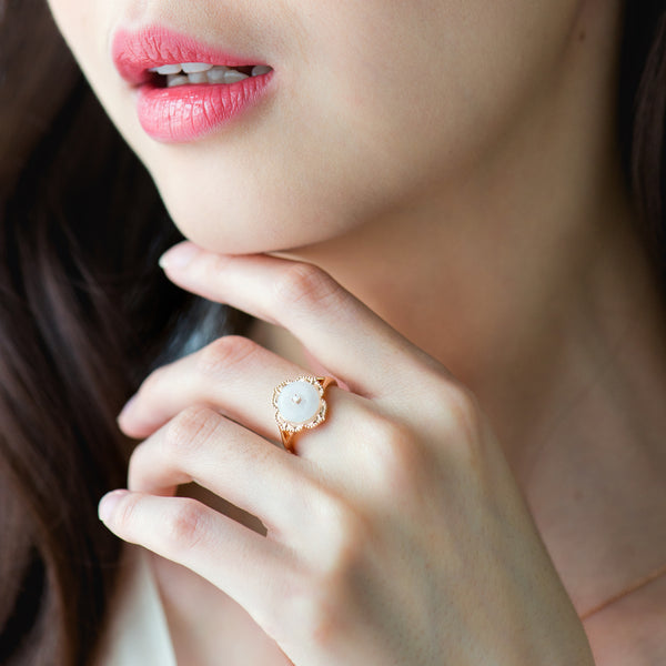 Warisan Kebaya Jade Donut Ring (Exclusively in 18KT)