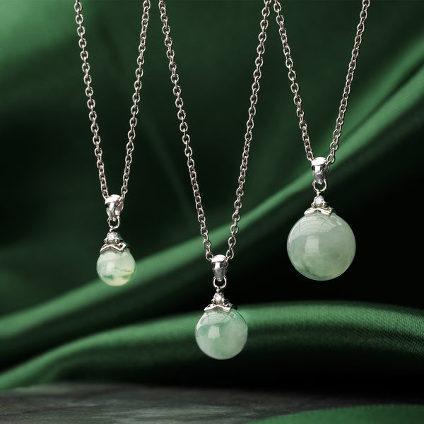 Classic Jade Necklace - Forest (9KT)