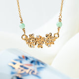 Hydrangea Bouquet Necklace (9KT)