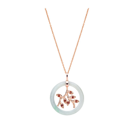Kebaya Jade Donut Necklace (9KT)