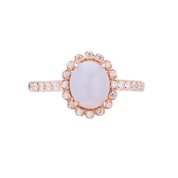 Engagement Jade Ring 1.30ct Lavender