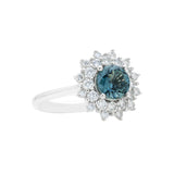 Engagement Sapphire Ring 1.10cts Greenish Blue