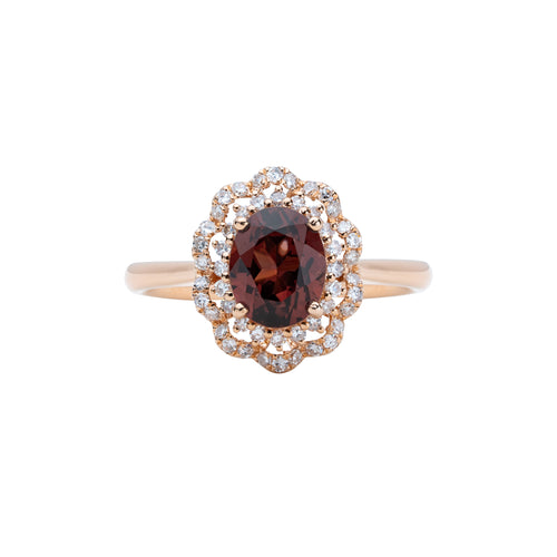 Engagement Spinel Ring 1.02cts Brownish Orange
