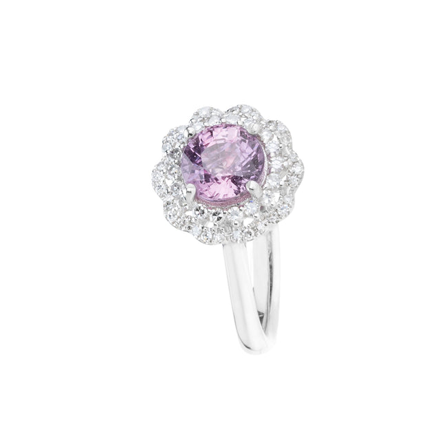 Engagement Sapphire Ring 1.20cts Purplish Pink