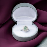 Engagement Jade Ring 1.70cts Ice