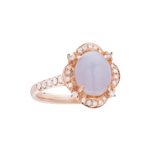 Engagement Jade Ring 1.40ct Lavender