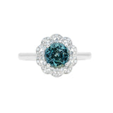 Engagement Sapphire Ring 1.38cts Greenish Blue