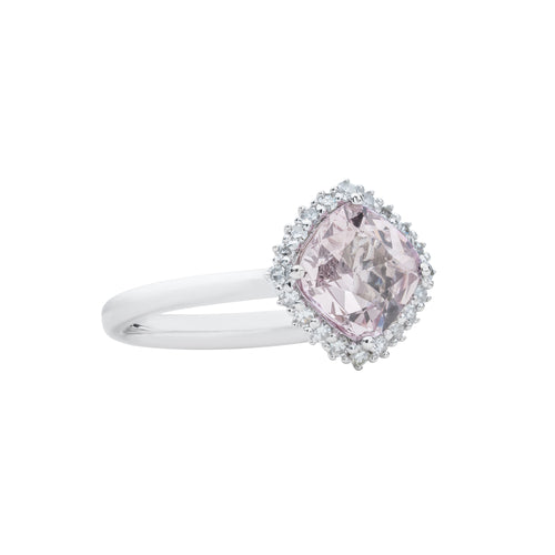 Engagement Spinel Ring 1.14cts Light Pink