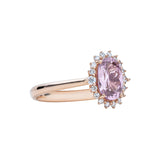 Engagement Spinel Ring 0.90cts Pink