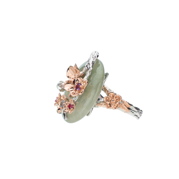 Cherry Blossom Branch Ring - Medium Donut (9KT)
