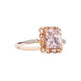 Engagement Spinel Ring 1.23cts Orange Pink