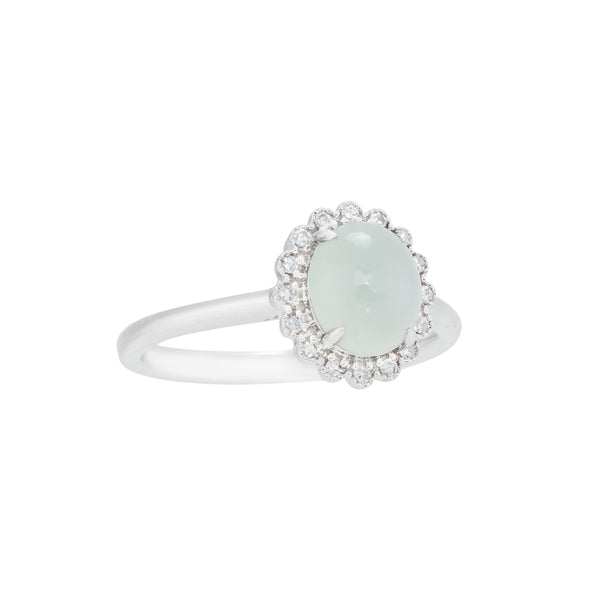 Engagement Jade Ring 1.65cts Ice