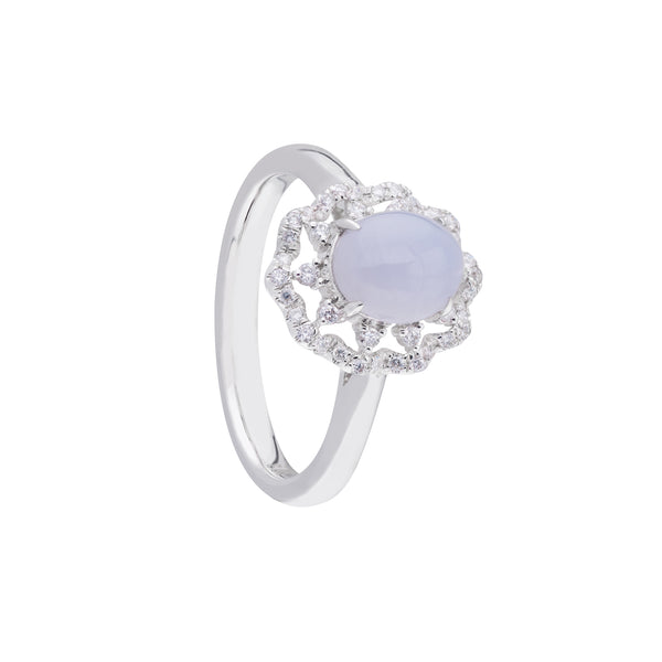 Engagement Jade Ring 1.15ct Lavender