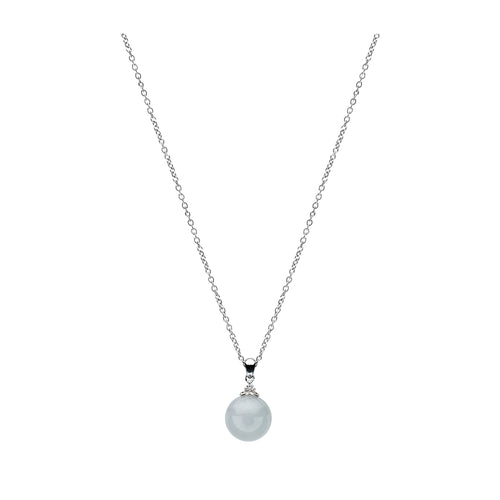 Classic Jade Necklace - Mist in 7mm / 9mm (9KT)