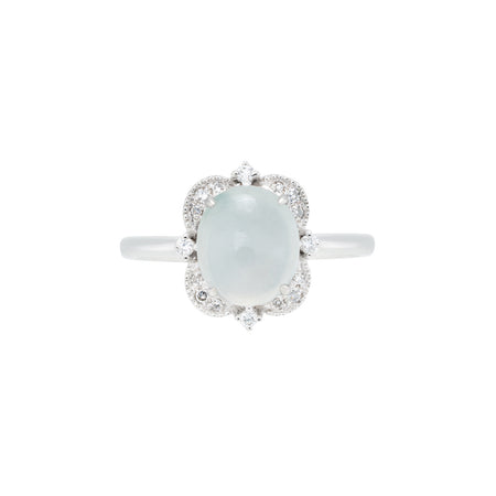 Engagement Jade Ring 1.1cts Ice