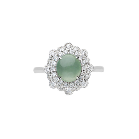 Engagement Jade Ring 0.65ct Ice