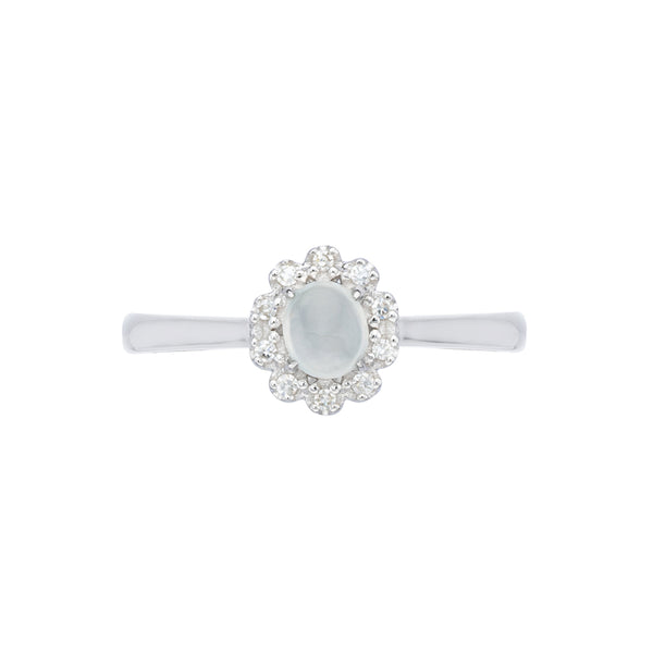 Engagement Jade Ring 0.30cts Ice