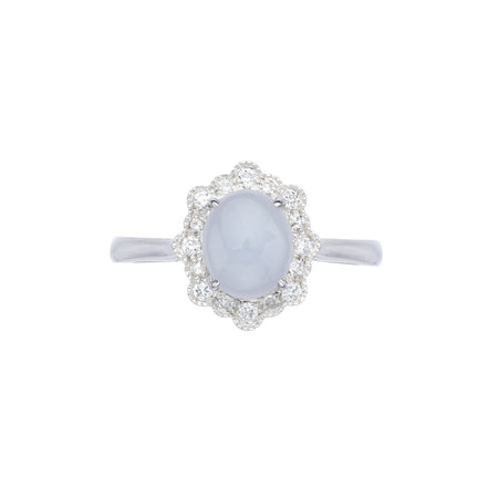 Engagement Jade Ring 1.05cts Lavender