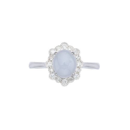 Engagement Jade Ring 1.35cts Lavender