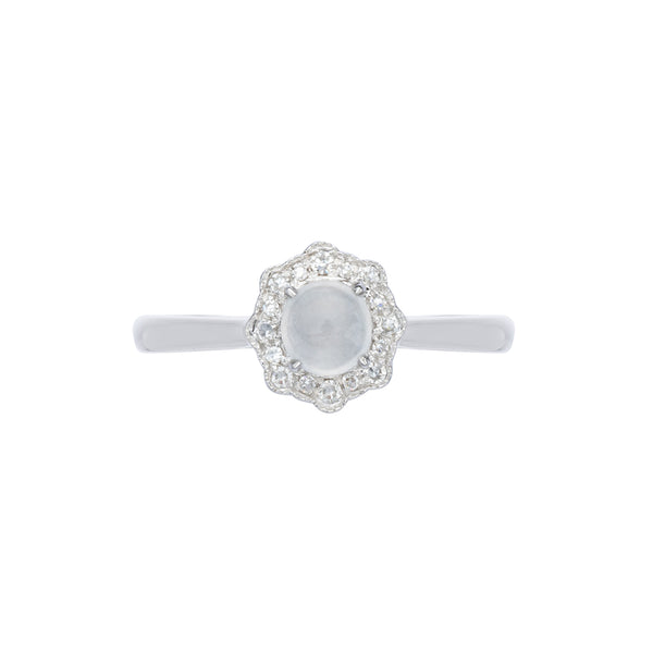 Engagement Jade Ring 0.35cts Ice
