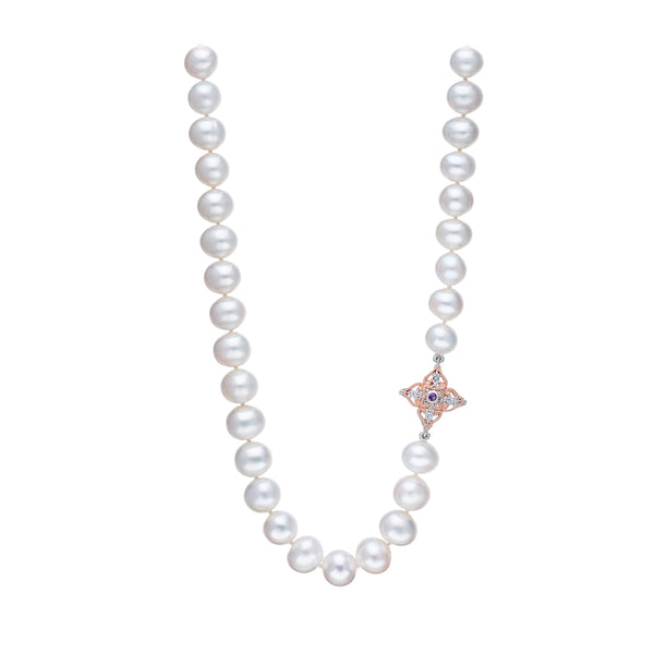 Peranakan Lace Pearl Necklace (9KT)
