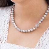Peranakan Lace Pearl Necklace (9KT Special Edition)