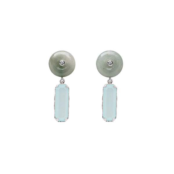 Shophouse Jade Donut Earrings