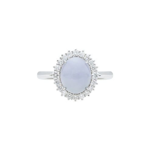 Engagement Jade Ring 2.80ct Lavender
