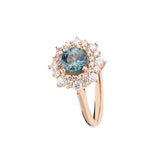 Engagement Sapphire Ring 1.02cts Greenish Blue