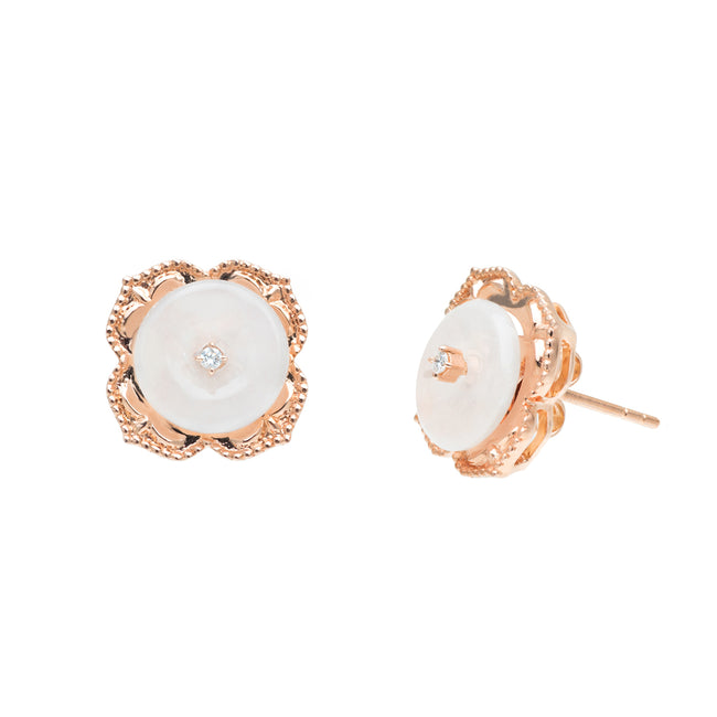 Warisan Kebaya Jade Donut Studs (Exclusively in 18KT)