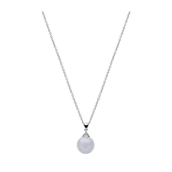 Classic Jade Necklace - Winter Grey (9KT)