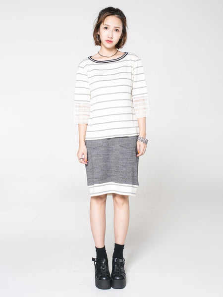 Slouchy Striped Top - daretodreamhk