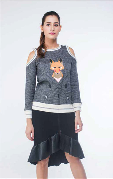 Foxy Cold Shoulder Sweater - daretodreamhk