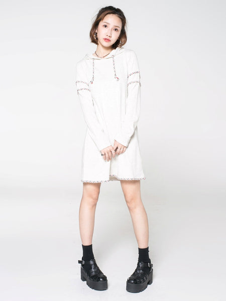 French Terry Long Sleeved Dress - daretodreamhk