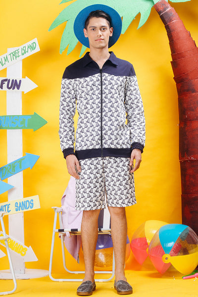 Beach Chair Printed Zip-Up Jacket - daretodreamhk