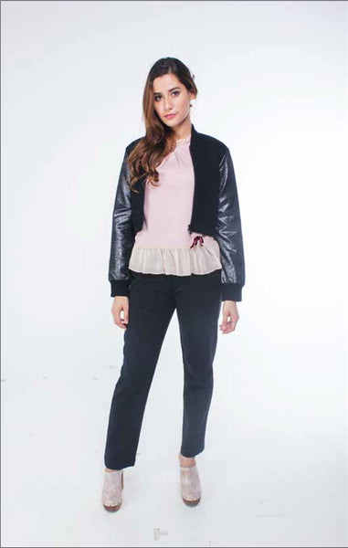 Dream Girl Sparkle Cropped Jacket - daretodreamhk