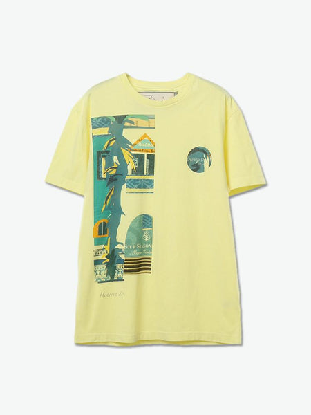 Night View Collage Print Tee (Yellow) - daretodreamhk