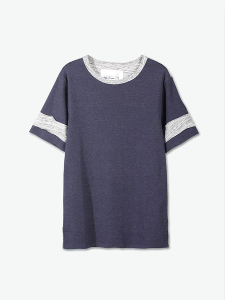 Navy Blue & Heather Tee - daretodreamhk