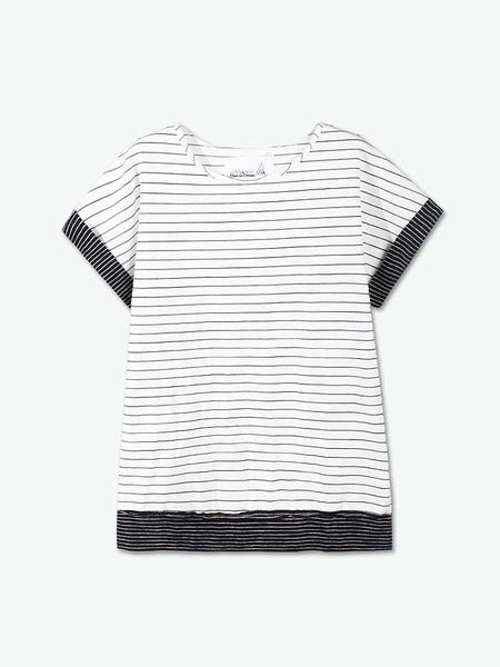 Rolled Sleeved Ponte T-Shirt - daretodreamhk