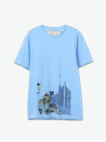 Night of Igreja da Se Cathedral Collage Print Tee - daretodreamhk