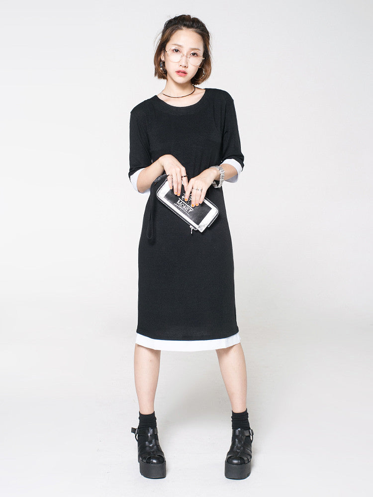 Girls Sleeve Round Neck T-Shirt Dress - daretodreamhk