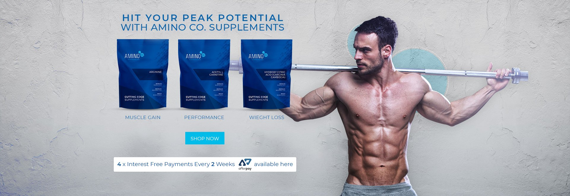 HIT YOUR PEAK POTENTIAL WITH AMINO CO. SUPPLEMENTS