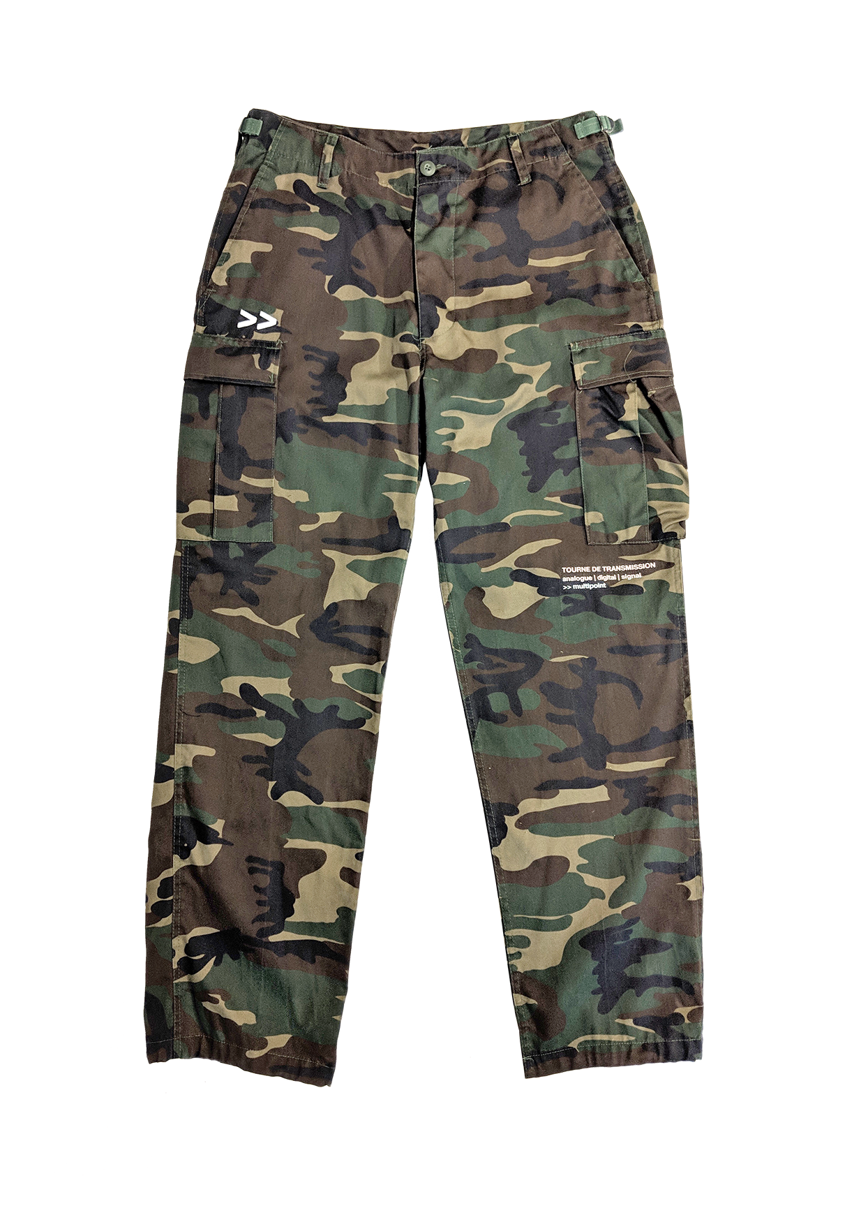 """Roots"" pant - camo / White"
