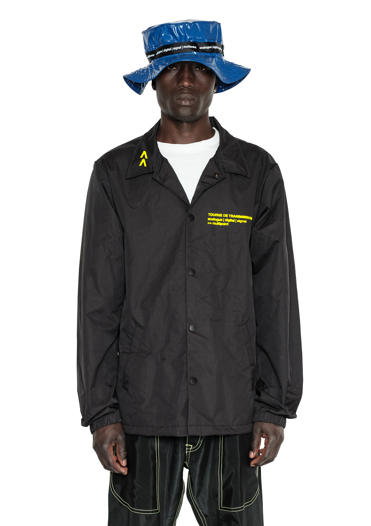 """multipoint"" Coach jacket - Black / Yellow"