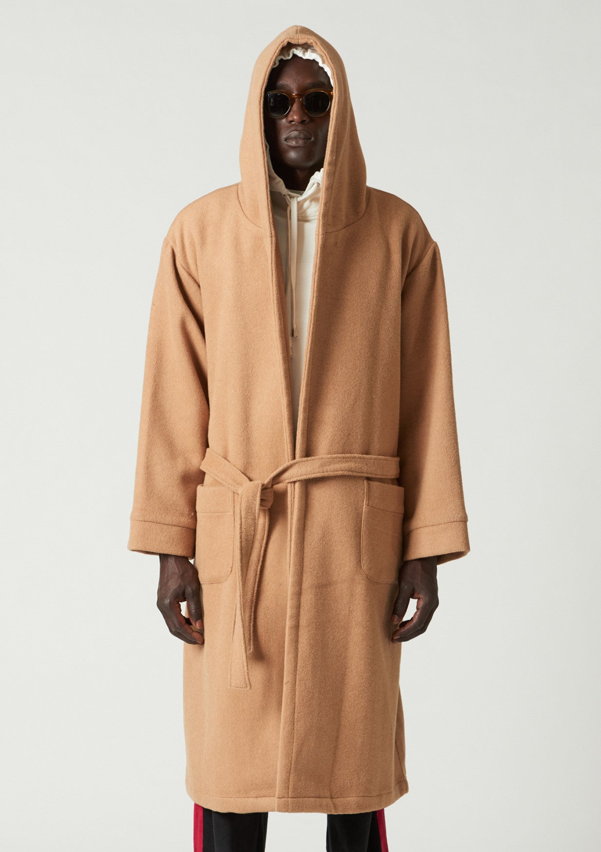 Dali Slouch hooded house coat - Camel