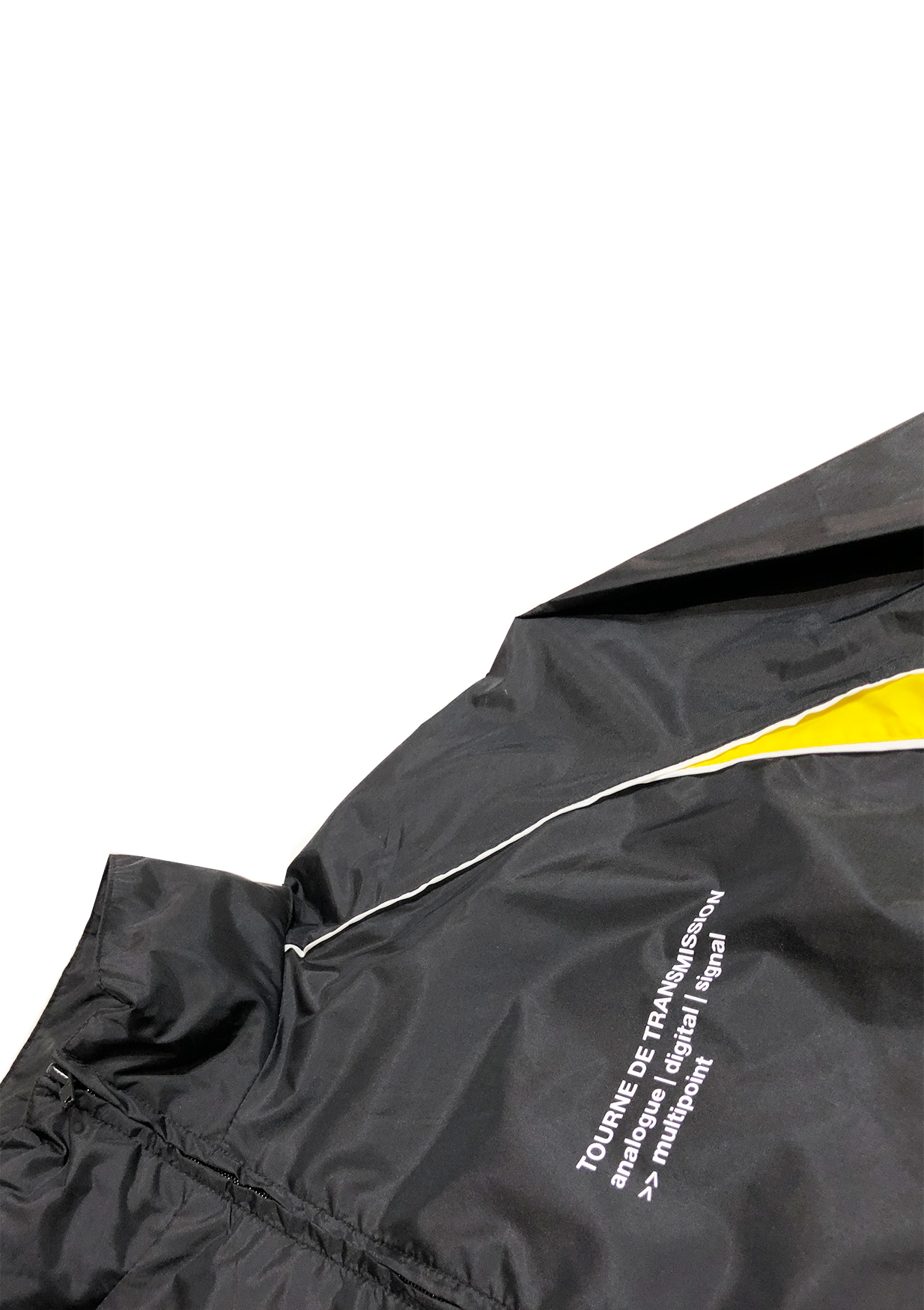 """Multipoint"" windbreaker - Black / White /yellow"